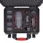 Le DJI Mavic Pro et tous ses accessoires rangés dans la valise HPRC 2400 de couleur noire