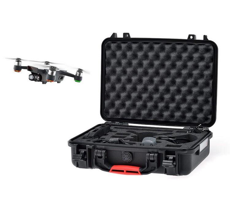 Valise HPRC pour DJI Spark avec le drone en vol
