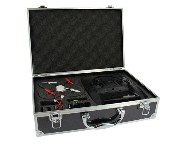 Cette valise pour Hubsan FPV vous permet de ranger et de protéger votre drone ainsi que ses batteries, son câble de charge et une radiocommande.