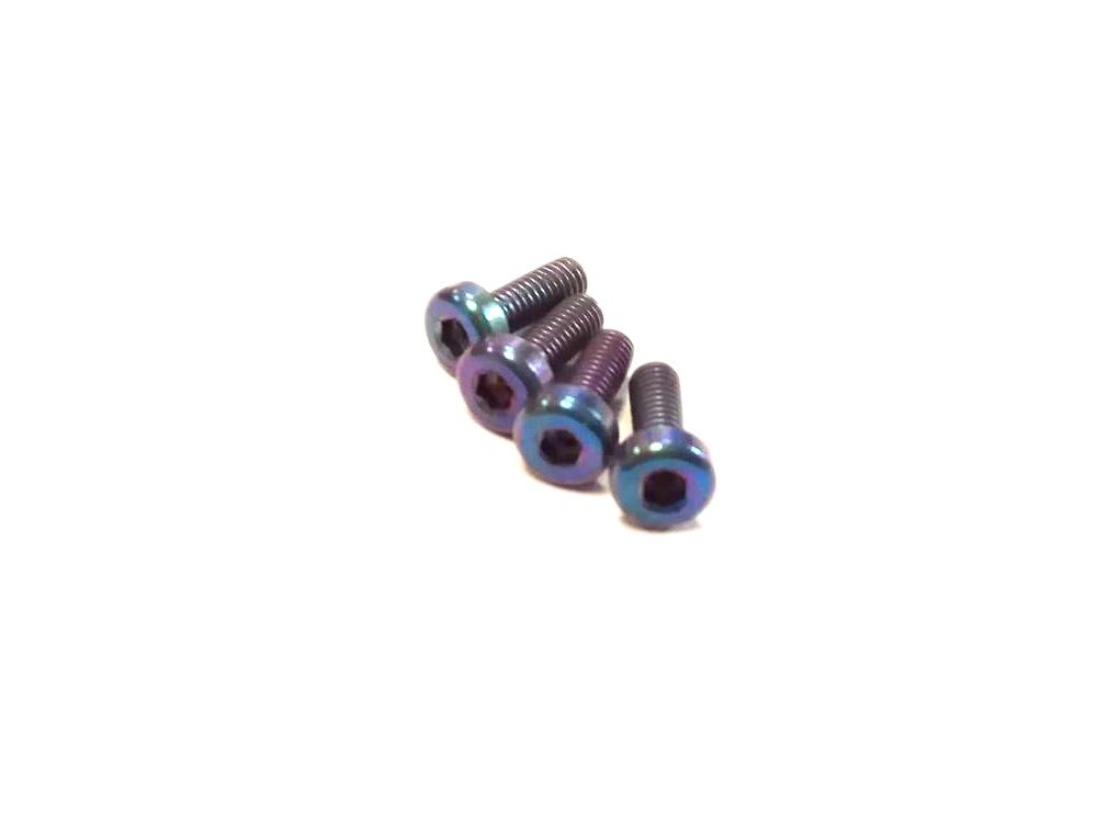 Vis M3x10mm en Titane x4 bleu pétrole