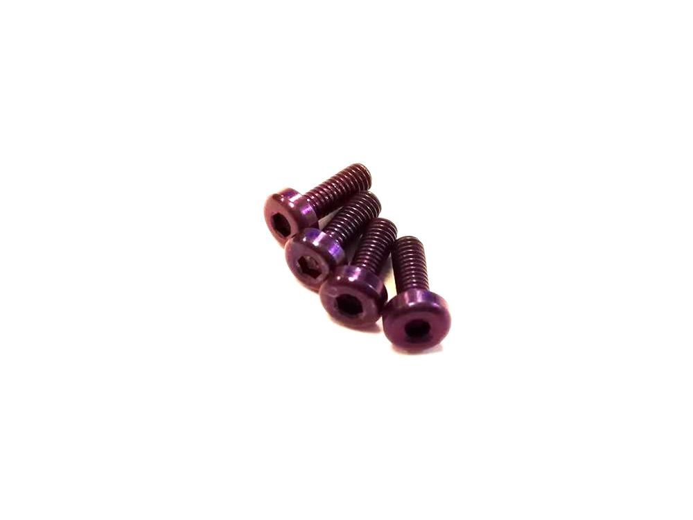 Vis M3x6mm en Titane x4 violet