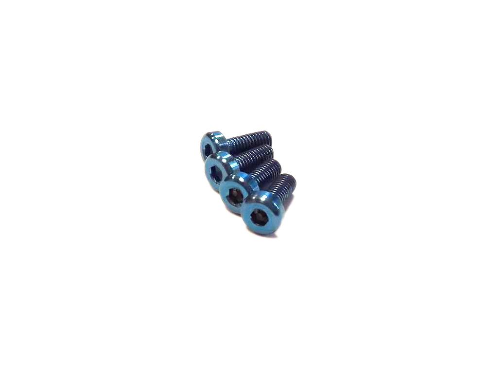Vis M3x8mm en Titane x4 bleu