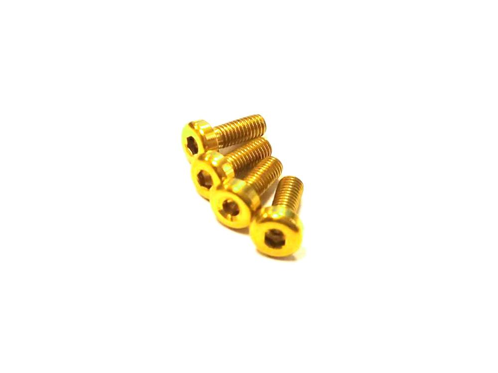 Vis M3x8mm en Titane x4 jaune