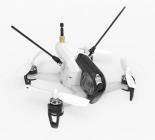 Drone racer Walkera F150 Rodeo RTF blanc - vue de biais