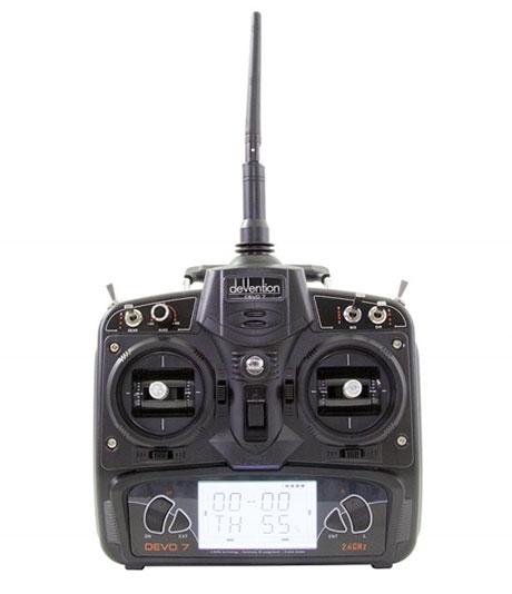 Radiocommande DEVO 7 du drone racer Walkera F150 Rodeo RTF