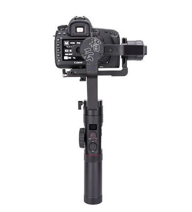 Zhiyun Crane 2 avec appareil photo DSLR - vue de dos