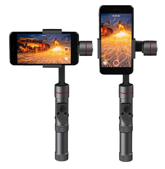 Stabilisateur Zhiyun Smooth 3 pour smartphones en mode vertical et horizontal