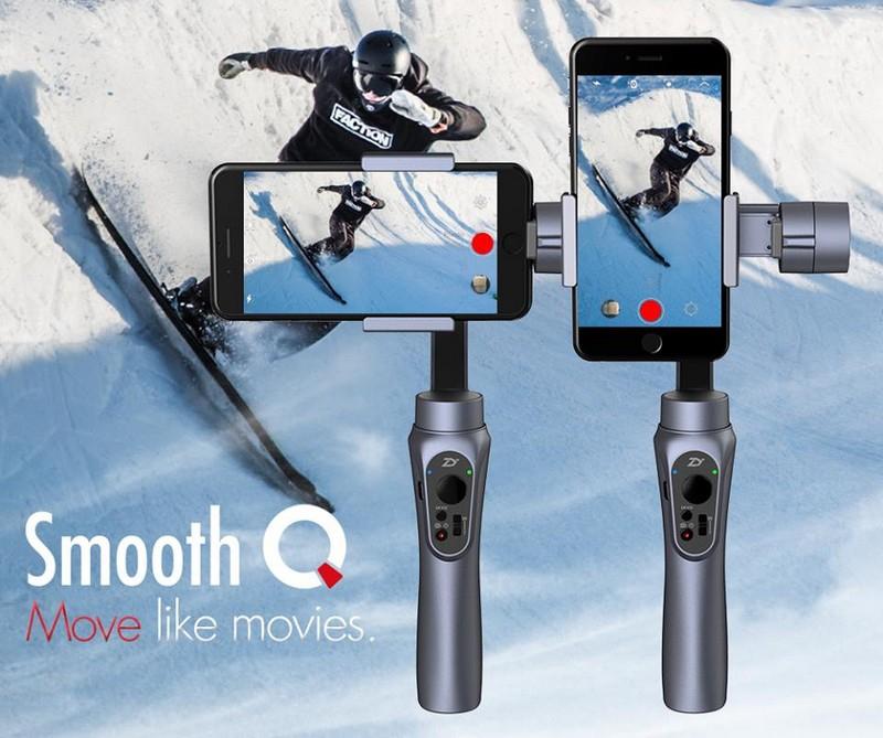 Démonstration des différentes positions de fonctionnement du Zhiyun Smooth Q pour smartphones